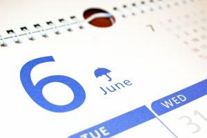 6月 祝日 祭日