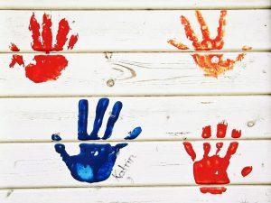 父の日 手形アート